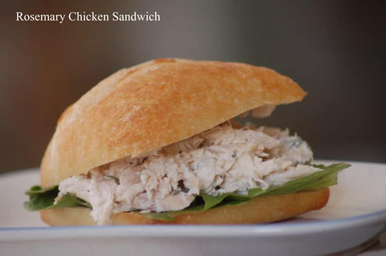 Rosemary Chicken Salad Sandwiches make a delicious, quick lunch using just a few ingredients