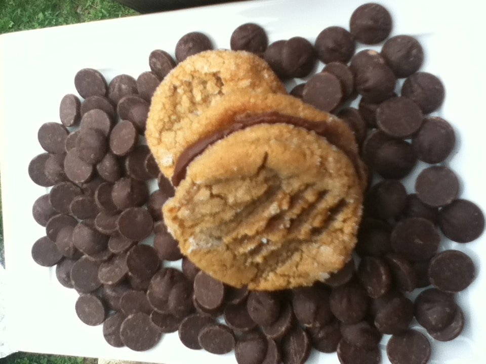 Chocolate Ganache Peanutbutter Sandwich Cookies