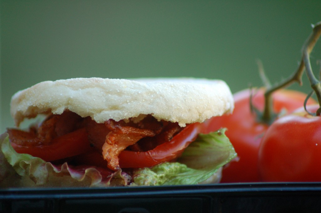 English Muffins are the perfect vehicle for soggy-free BLT's.