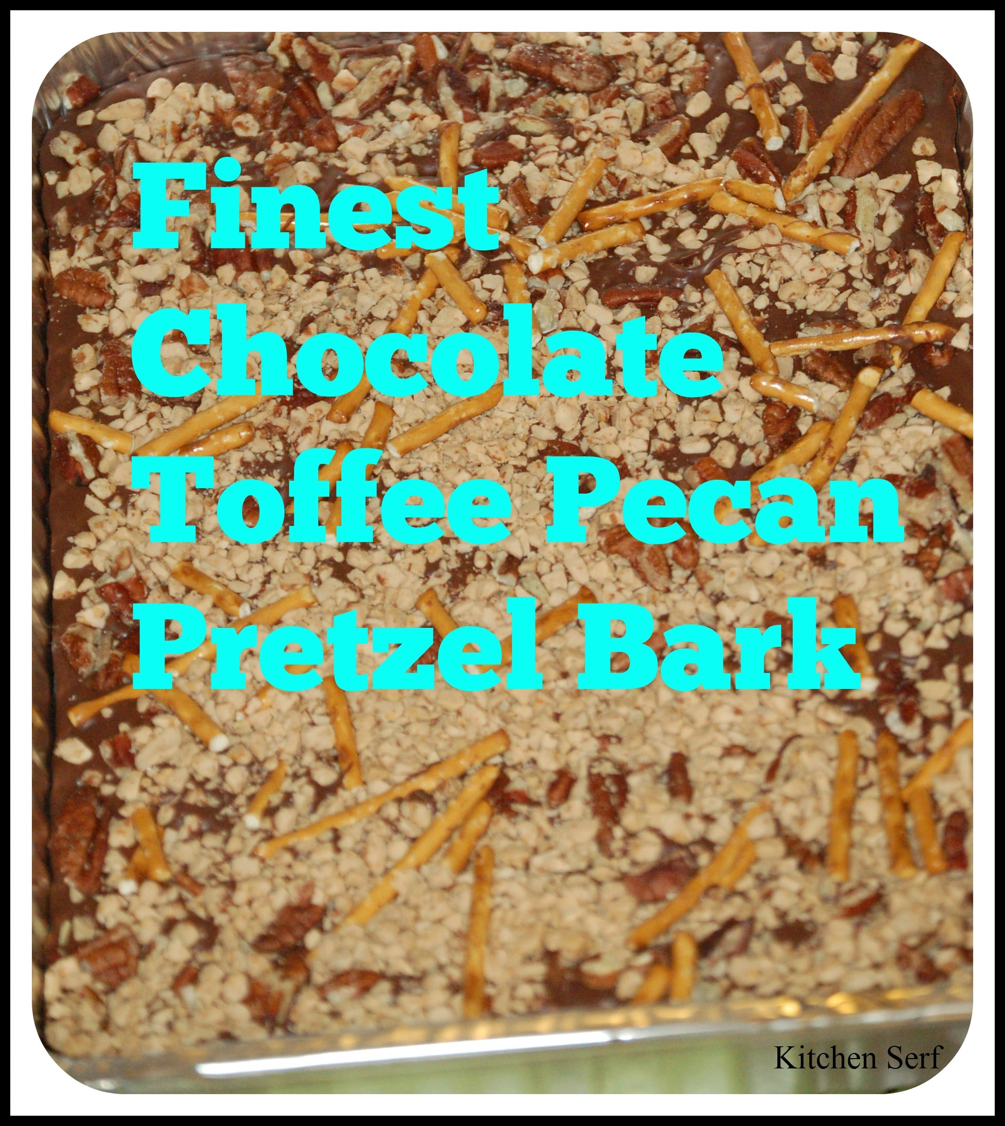 How to make Finest Chocolate Toffee Pecan Pretzel Bark