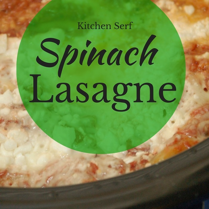 Spinach Lasagne Recipe