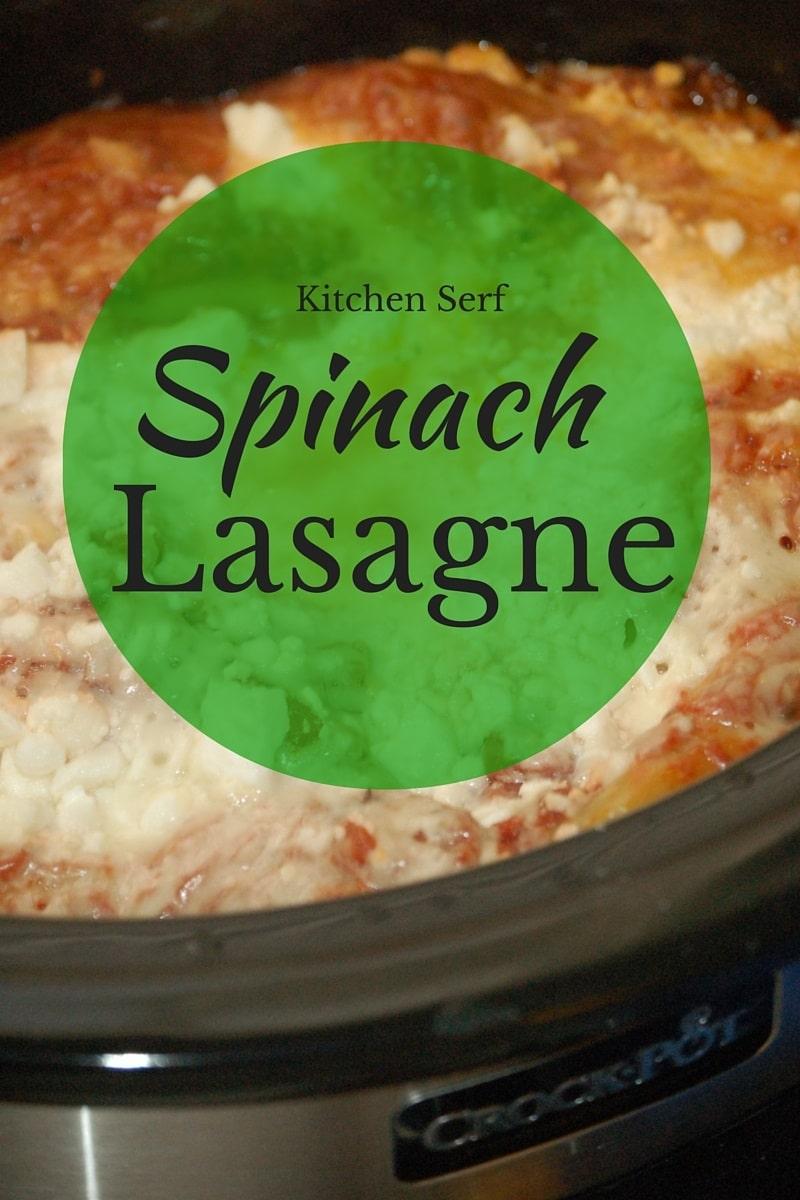 Spinach Lasagne Recipe