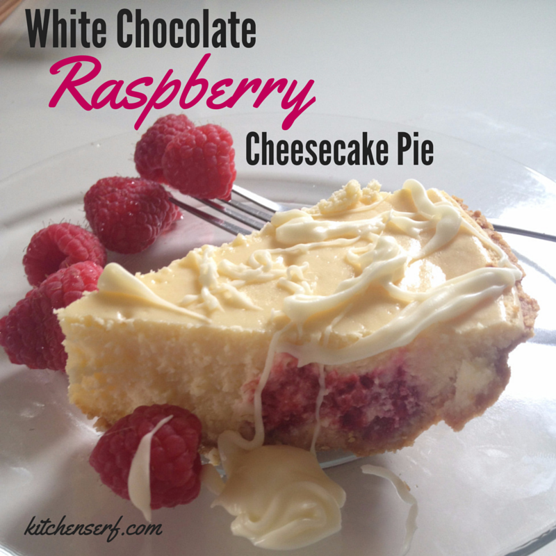 Incredible, Effortless White Chocolate Raspberry Cheesecake Pie -