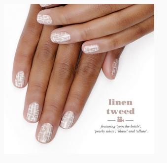Essie Linen Tweed Nail Art Kitchen Serf