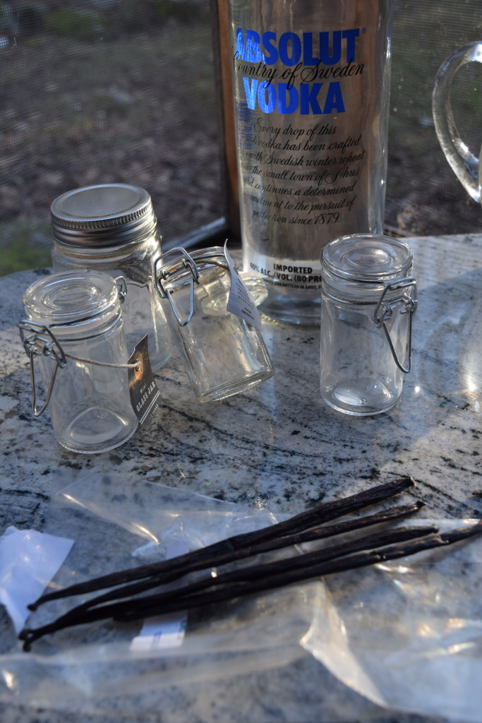 Homemade Vanilla Extract is an infusion of vanilla beans in alcohol.
