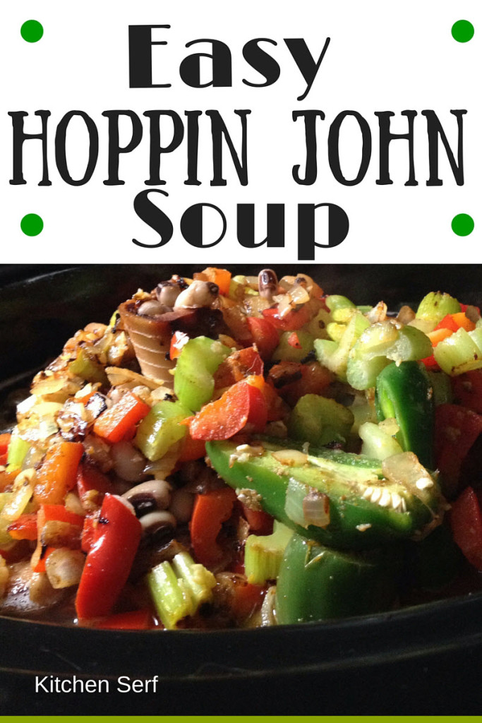 Easy Hoppin John Soup could also be called stand over the Crock-Pot with a spoon soup because it's so good, one spoonful and you won't walk away without eating another.