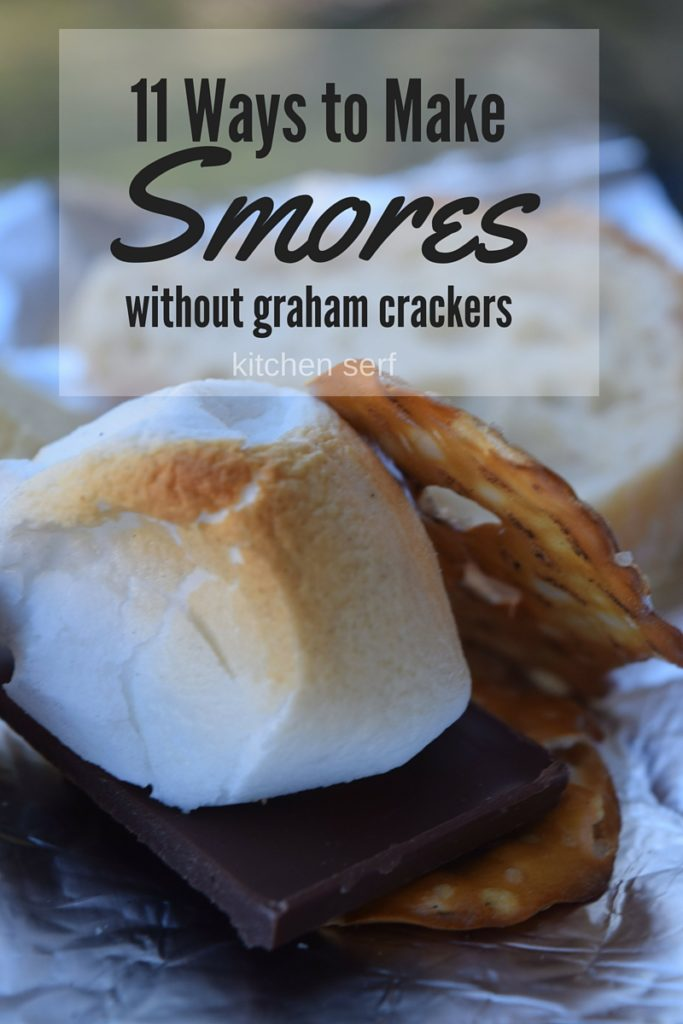 Did you forget to pickup graham crackers for the cookout? Here are 11 ways to make s'mores without graham crackers. kitchenserf.com