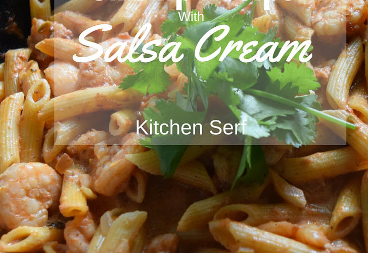 Shrimp Recipe with Salsa Cream Sauce