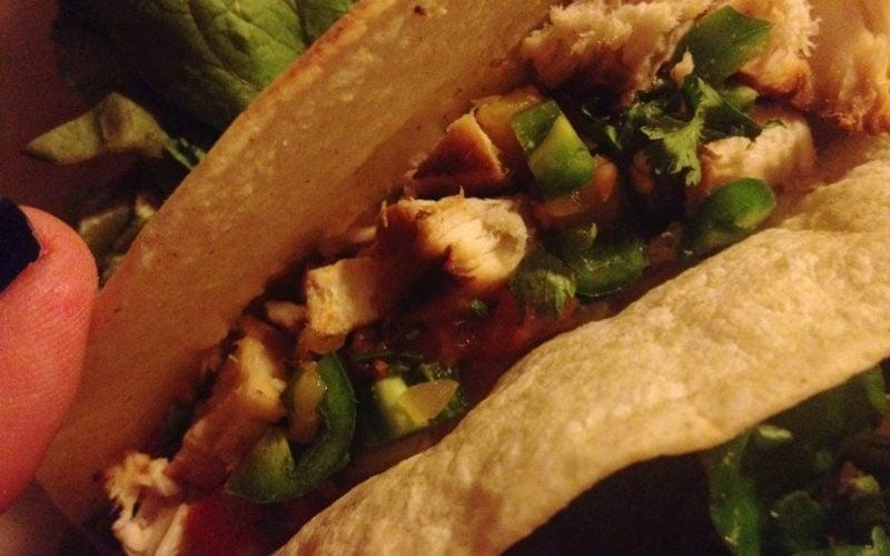 Dinner Idea: Grilled Swordfish Soft Tacos with Peach Salsa