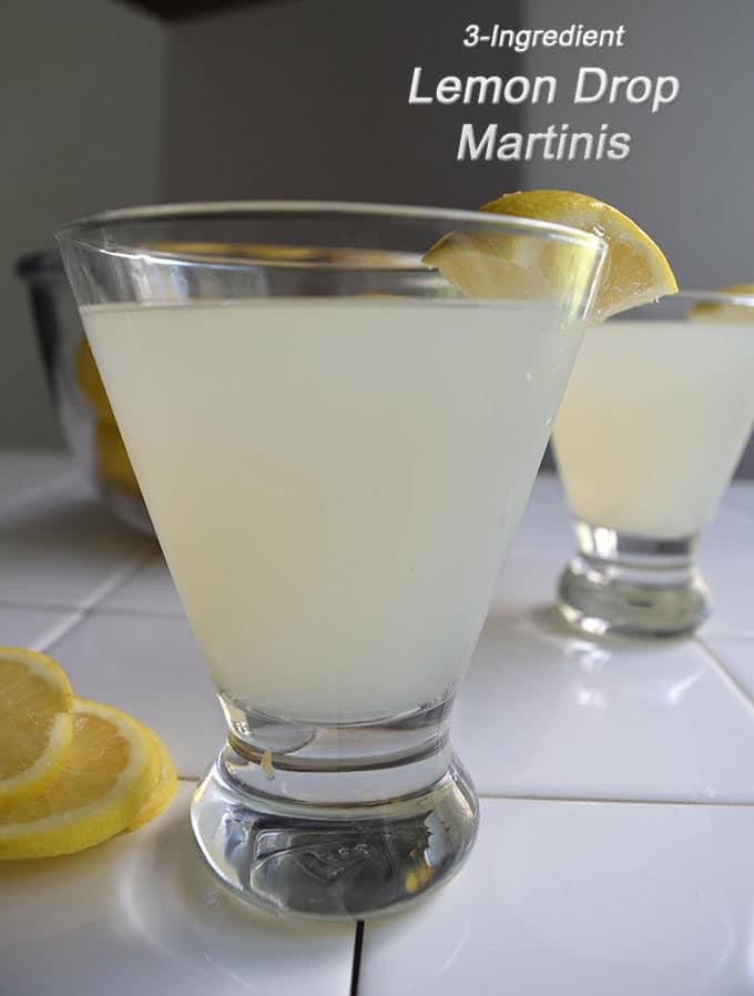 Lemon Drop Martini 3-Ingredient Recipe