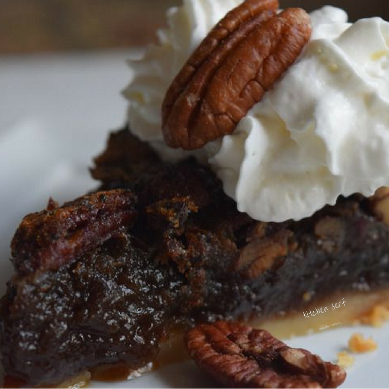 Brown Butter Pecan Pie with Espresso Dates is even better after sits a day or two. The dates and the brown sugar get all caramel-y.