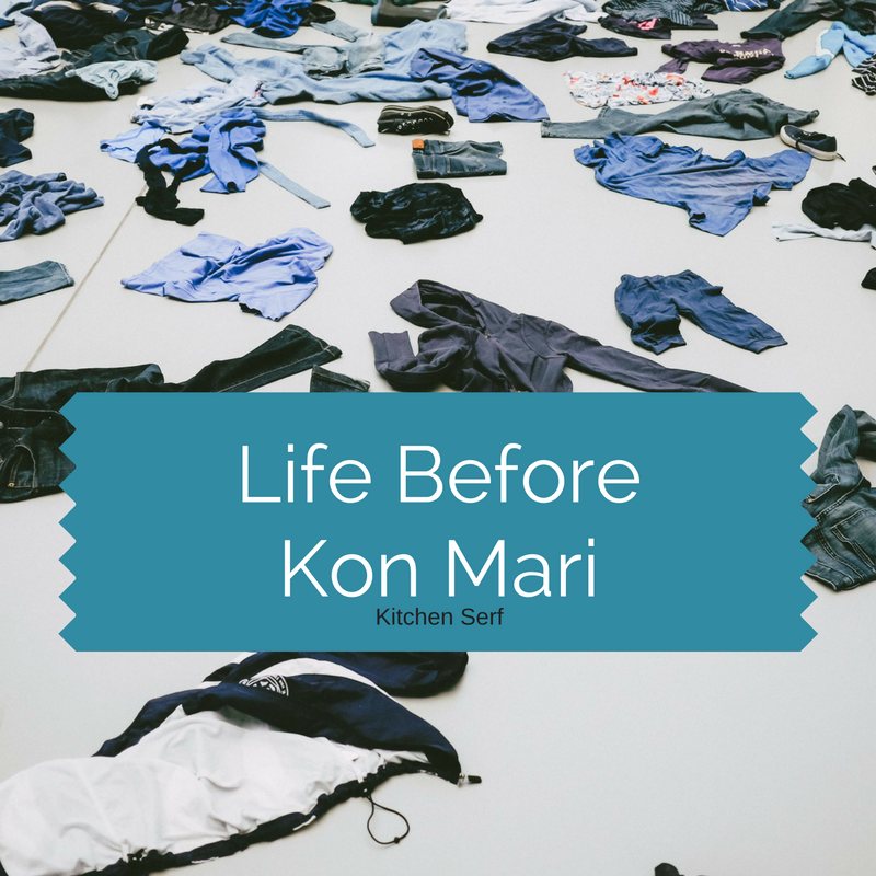Life before Kon-Mari's The Life Changing Magic of Tidying Up was, well, less than tidy.