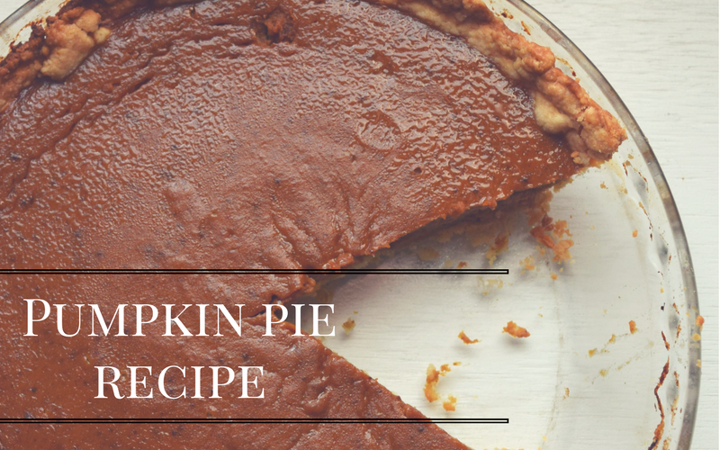 Pumpkin Pie Recipe, Only 2 cups Pumpkin Puree Needed