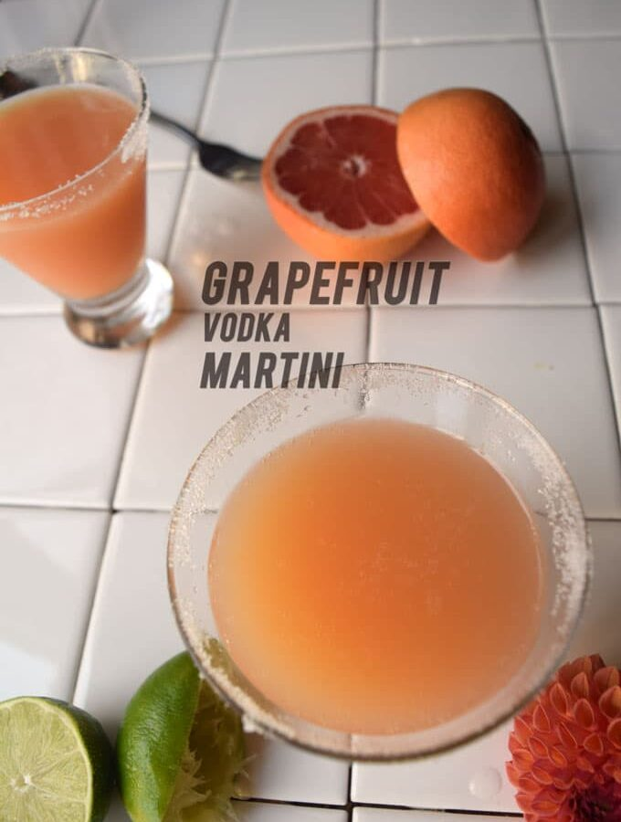 Grapefruit Vodka Martinis Almost Like a Smoothie