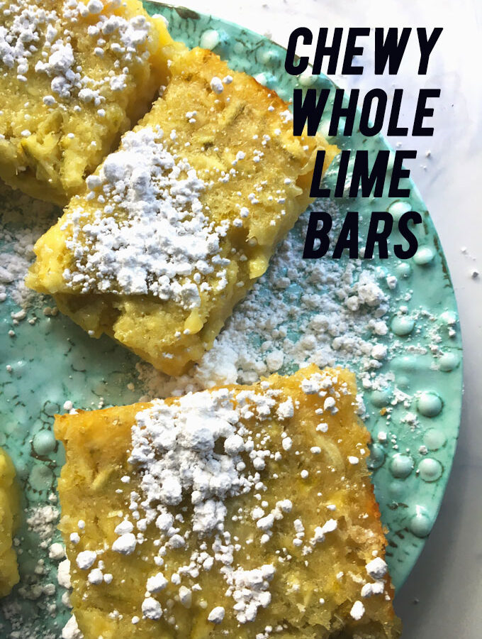 Chewy Whole Lime Bars