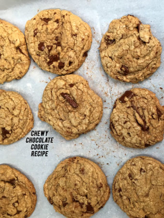 Look no further if you need a chewy chocolate cookie recipe. These cookies are rich and chewy, even after they've cooled.