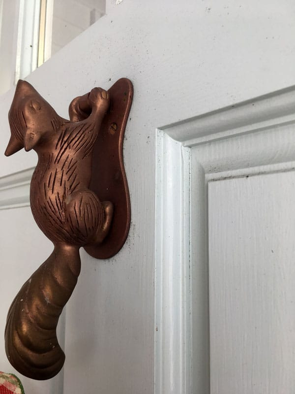 authors, Brooke Dojny, and she has the most adorable squirrel door knocker.. Do you have a fancy door knocker?