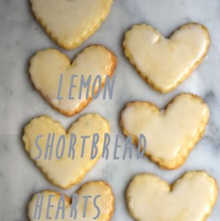 Lemon Shortbread Heart Cookies Recipe