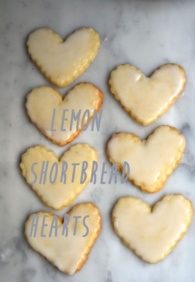 Lemon Shortbread Heart Cookies Recipe
