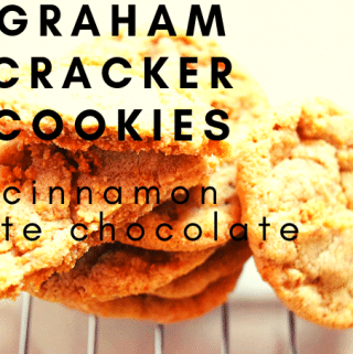 Crushed cinnamon graham crackers and white chocolate disks make this drop cookie perfect for a glass of milk.