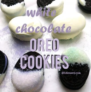 The only thing better than an Oreo is an Oreo dipped in white chocolate. Trust me, I know. This recipe takes just two ingredients and a few minutes to make. Your family will devour them in moments! #whitechocolateoreo #easydessert