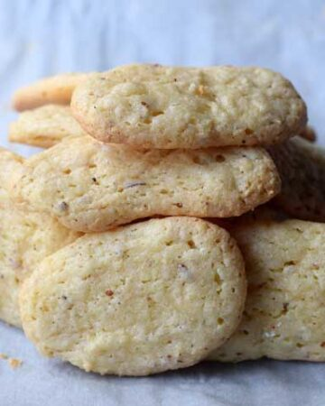 pile of bone cookies on a parchment paper